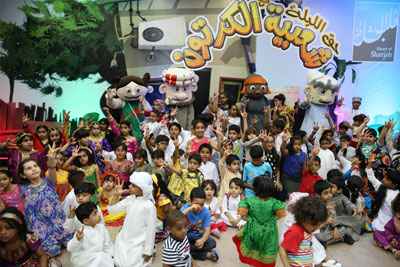 Shaabiat Al Cartoon shares with children their joy of Hag Al Laila in Heart of Sharjah